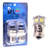 Светодиодная авто лампа P21W 1156 - 8 SMD5050 1.92Вт Белая