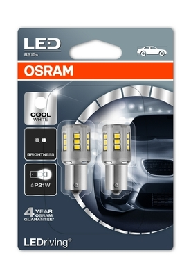 Светодиодная авто лампа P21W 1156 – LED Standart Cool White 2W 6000K Белые