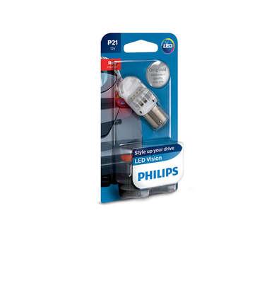 Светодиодная авто лампа P21W 1156 - Philips X-treme Vision LED Красная