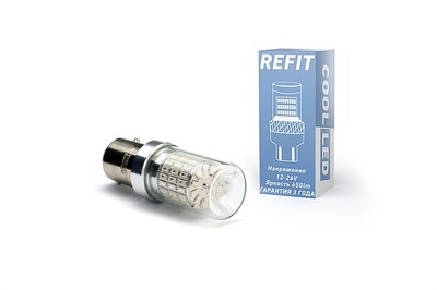 Светодиодная авто лампа P21/5W 1167 - REFIT Красная