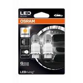 Светодиодная авто лампа P27/7W 3157 - LED Premium Amber 2W 1500K