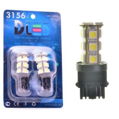 Светодиодная авто лампа P27W 3156 - 18 SMD5050 4.32Вт Жёлтая