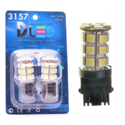 Светодиодная авто лампа P27W 3156 - 27 SMD5050 6.48Вт Жёлтая