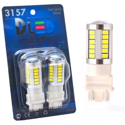 Светодиодная авто лампа P27W 3156 - 33 SMD5630 13.2Вт Красная