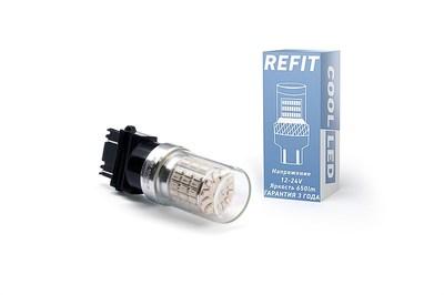 Светодиодная авто лампа P27W 3156 - REFIT Белая