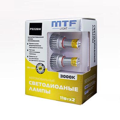 Светодиодная авто лампа PSX26W -  3000K 11Вт MTF