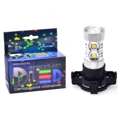 Светодиодная авто лампа PY24W - 10 EPISTAR 50Вт DLED