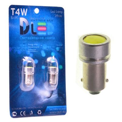 Светодиодная авто лампа T4W BA9S - 1 High-Power 1Вт Белая