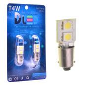 Светодиодная авто лампа T4W BA9S - 2 SMD5050 0.48Вт Белая