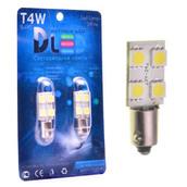 Светодиодная авто лампа T4W BA9S - 3 SMD5050 0.96Вт Белая