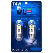 Светодиодная авто лампа T4W BA9S - 36 SMD3014 3.6Вт Белая
