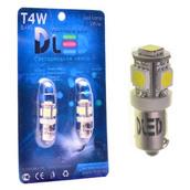Светодиодная авто лампа T4W BA9S - 5 SMD5050 1.2Вт Белая
