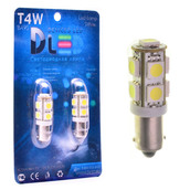 Светодиодная авто лампа T4W BA9S - 9 SMD5050 2.16Вт Белая
