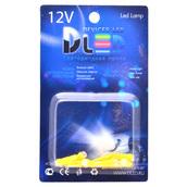 Светодиодная авто лампа T5 – 1 COB 360 1Вт Жёлтая