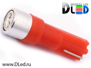 Светодиодная авто лампа T5 – 1 HP 0.5Вт Красная