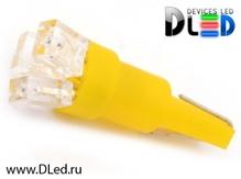 Светодиодная авто лампа T5 – 3 Dip 0.3Вт Жёлтая