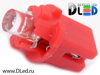 Светодиодная авто лампа T5 – B8.3D 1 Dip 0.2Вт Красная