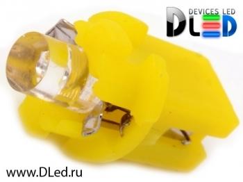 Светодиодная авто лампа T5 – B8.3D 1 Dip 0.2Вт Жёлтая