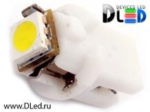 Светодиодная авто лампа T5 – B8.5D 1 SMD 5050 0.24Вт Белая