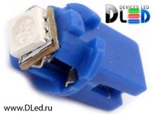 Светодиодная авто лампа T5 – B8.5D 1 SMD 5050 0.24Вт Синяя
