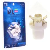 Светодиодная авто лампа T5 – B8.5D 1 Dip 0.2Вт Белая