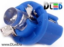 Светодиодная авто лампа T5 – B8.5D 1 Dip 0.2Вт Синяя