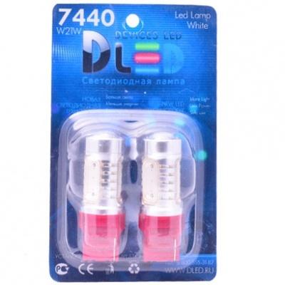 Светодиодная авто лампа W21/5W 7443 - 4 High-Power 6Вт Красная