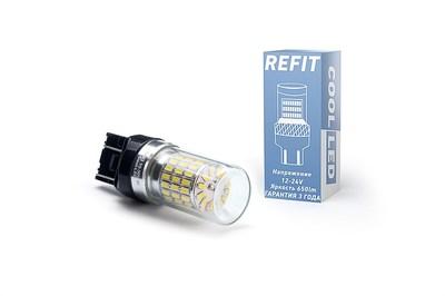 Светодиодная авто лампа W21/5W 7443 - REFIT Красная