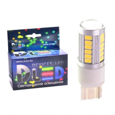 Светодиодная авто лампа W21W 7440 - 33 SMD5630 13.2Вт Жёлтая