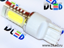 Светодиодная авто лампа W21W 7440 - 4 High-Power 6Вт Белая