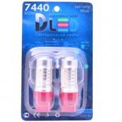 Светодиодная авто лампа W21W 7440 - 4 High-Power 6Вт Красная