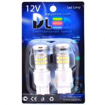 Светодиодная авто лампа W21W 7440 - 48 SMD3014 9Вт Белая