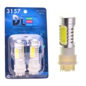 Светодиодная авто лампа P27/7W 3157 - 4 High-Power 6Вт Жёлтая