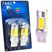 Светодиодная авто лампа P27/7W 3157 - 5 High-Power 7.5Вт Белая