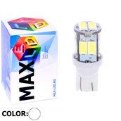Светодиодная авто лампа W5W T10 – Max-Road 10Led 2Вт Белая