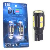 Светодиодная авто лампа W5W T10 – 10 SMD5630 Black 4Вт Белая