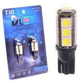 Светодиодная авто лампа W5W T10 – 13 SMD5050 Black 3.16Вт Белая