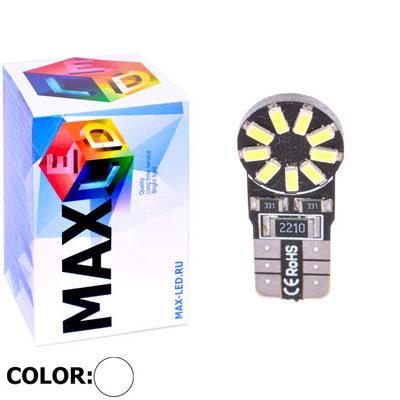 Светодиодная авто лампа W5W T10 – Max-Lendigo 18Led 2Вт Белая