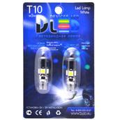 Светодиодная авто лампа W5W T10 – 1w 4 SMD5050 1.96Вт Белая