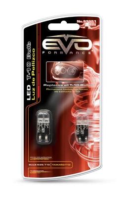Светодиодная авто лампа W5W T10 – 2DIP EVO FORMANCE Красная