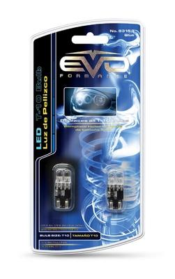 Светодиодная авто лампа W5W T10 – 2DIP EVO FORMANCE Синяя