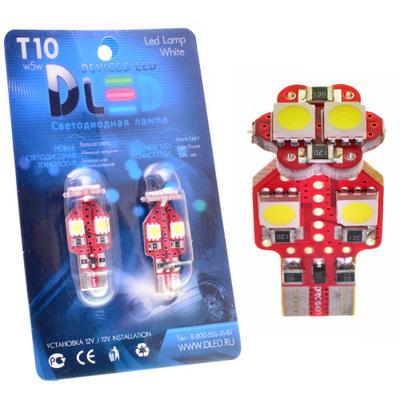 Светодиодная авто лампа W5W T10 – 6 SMD5050 1.44Вт Белая