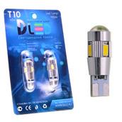 Светодиодная авто лампа W5W T10 – 6 SMD5630 Линза Обманка 2.4Вт Белая