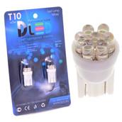 Светодиодная авто лампа W5W T10 – 7 Dip Led 0.4Вт Белая