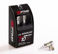 Светодиодная авто лампа W5W T10 – Optima Premium SAMSUNG Chip 10W 5100K Белая