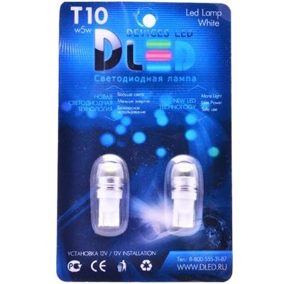 Светодиодная авто лампа W5W T10 – SMD3535 Линза 2.5Вт Белая