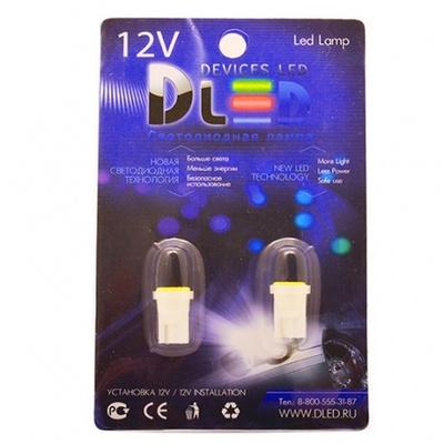 Светодиодная авто лампа W5W T10 – 1 COB 1Вт Белая