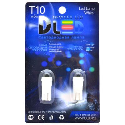 Светодиодная авто лампа W5W T10 – 1 COB Керамическая 1Вт Белая