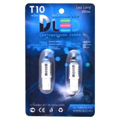 Светодиодная авто лампа W5W T10 – 1 Cree 5Вт Белая