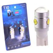 Светодиодная авто лампа W5W T10 – 1 HP 3 Mini Hp Линза 2.5Вт Белая